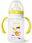 """Пляшка дитяча для годування Fissman Babies """"Пташки в хмарах"""" 240мл з ручками"""