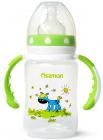 """Пляшка дитяча для годування Fissman Babies """"Ослик на галявині"""" 240мл з ручками"""