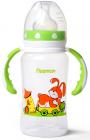 """Пляшка дитяча для годування Fissman Babies """"Зайчик на колесах"""" 300мл з ручками"""