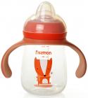 """Пляшка дитяча для годування Fissman Babies """"Хитрий лис"""" 260мл з ручками"""