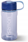 Бутылка спортивная Fissman Sport Line 650мл пластиковая, серо-голубая