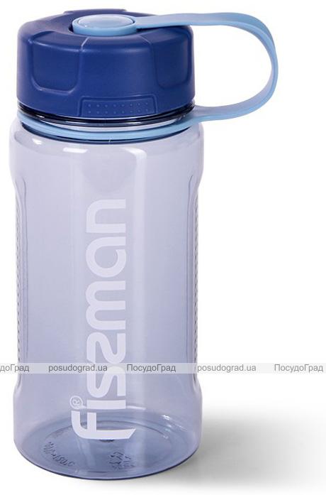 Пляшка спортивна Fissman Sport Line 650мл пластикова, сіро-блакитна