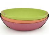 Набор 3 глубоких тарелки Fissman Fiber Ø20см из бамбукового волокна