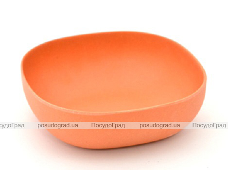 Миска Fissman Ø15см оранжевая из бамбукового волокна