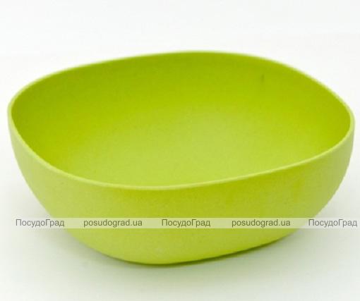 Миска Fissman Ø23см салатовая из бамбукового волокна