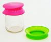 Набір 2 силіконові кришки Fissman Ø11см, рожева і зелена