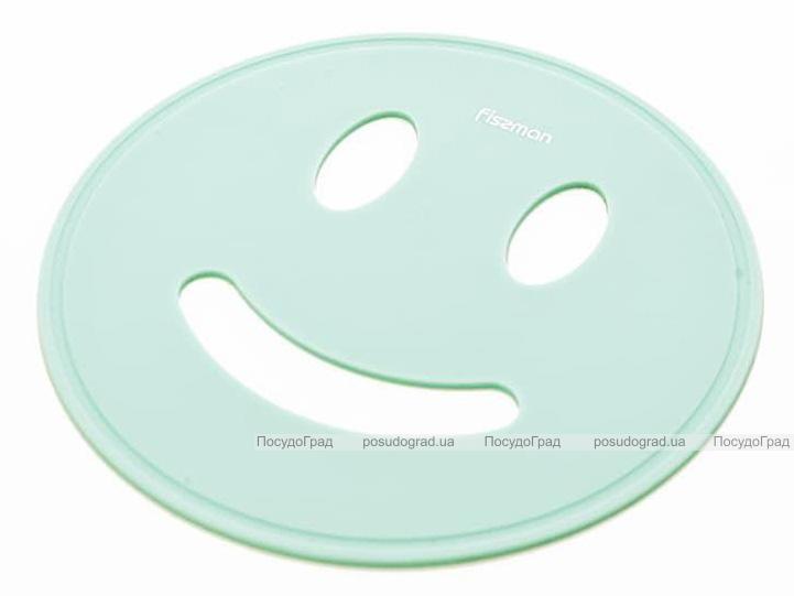 Подставка под горячее Fissman Smile Ø17см силиконовая, аквамарин
