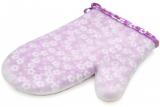 Кухонна рукавиця Fissman Lilac Flower 22см, бавовна з силіконовим покриттям