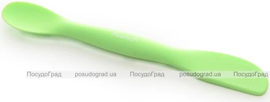Лопатка Fissman 2в1 двусторонняя силиконовая, 20см (лопатка/ложка)