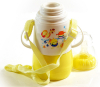 """Бутылочка детская для кормления Fissman Babies """"Забавное купание"""" 150мл с ремешком, желтая"""