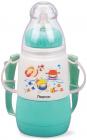 """Пляшка дитяча для годування Fissman Babies """"Кумедне купання"""" 150мл з ремінцем, аквамарин"""