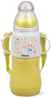 """Пляшка дитяча для годування Fissman Babies """"Малюки"""" 230мл з ремінцем, жовта"""