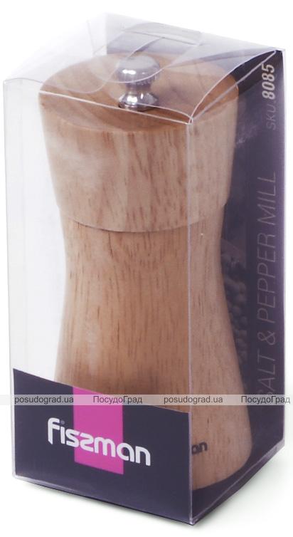 Мельница для специй (перцемолка) Fissman Spice Lanjit 11х5см, корпус светлое дерево
