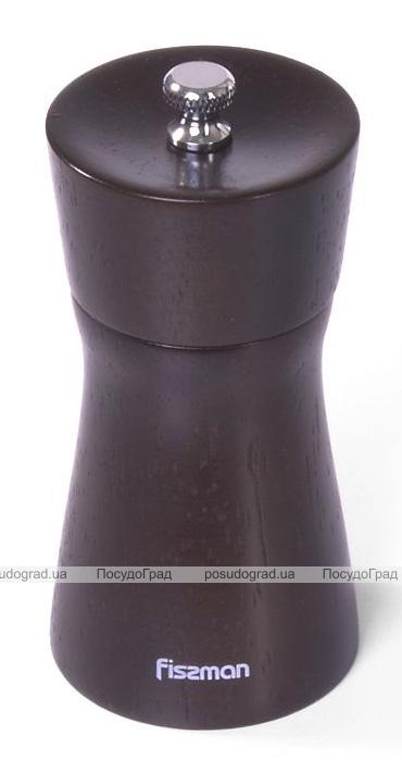 Мельница для специй (перцемолка) Fissman Spice Lanjit 11х5см, корпус темное дерево