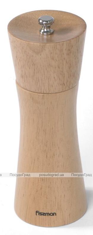 Млин для спецій (перцемолка) Fissman Spice Lanjit 16х5.5см, корпус світле дерево