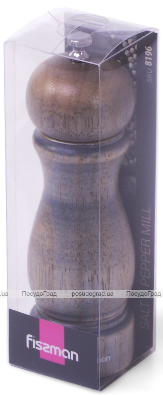 Мельница для специй (перцемолка) Fissman Spice Julie 11х5см, деревянный корпус