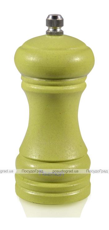 Мельница для специй (перцемолка) Fissman Spice 10см, бамбуковый салатовый корпус