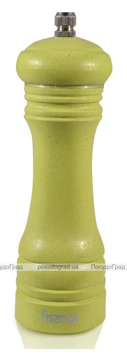 Мельница для специй (перцемолка) Fissman Spice 15х5см, бамбуковый салатовый корпус