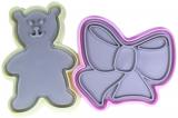 Набір для вирубки печива Fissman, форма-штамп Ведмідь і Бант