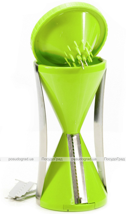 Спиральная овощерезка Fissman для декорирования блюд с 4 сменными лезвиями