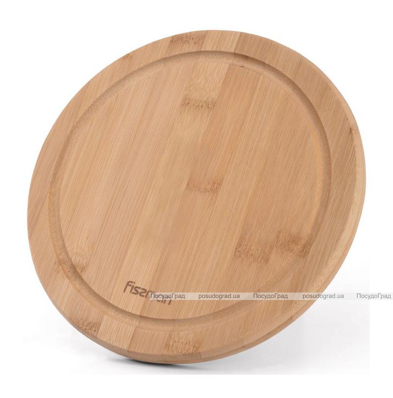 Дошка обробна Fissman бамбукова Ø20см
