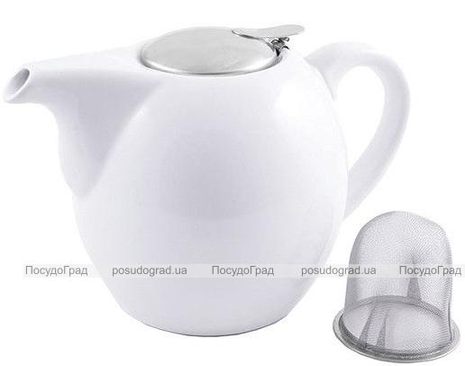 Чайник заварочный Fissman ProfiTea 1300мл (белый) с ситечком