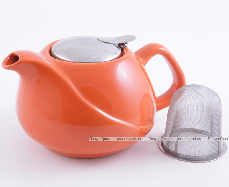 Чайник заварочный Fissman ProfiTea 750мл (оранжевый) с ситечком