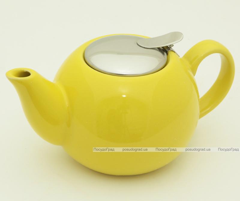 Чайник заварочный Fissman ProfiTea 750мл (желтый) с ситечком