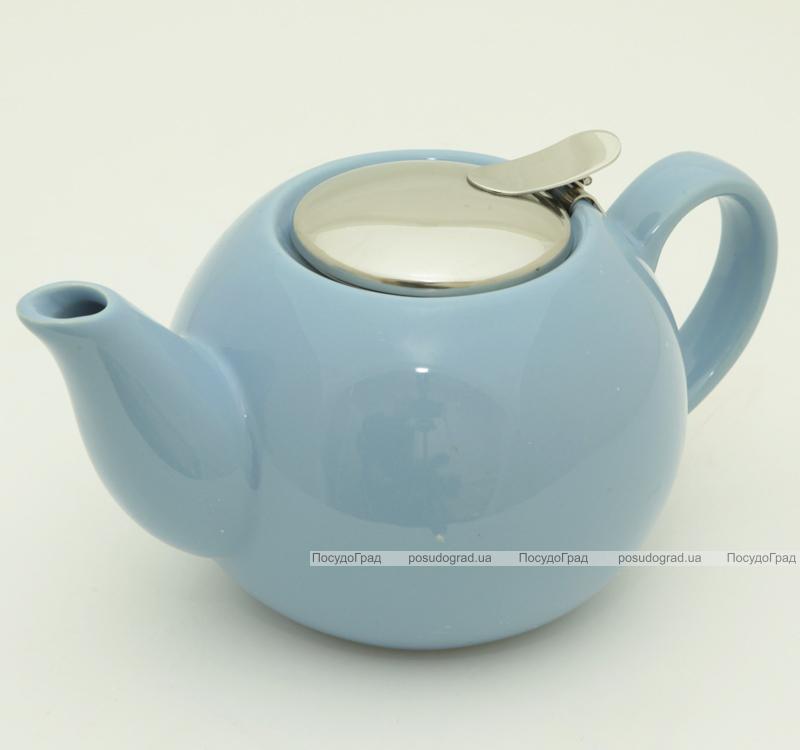 Чайник заварочный Fissman ProfiTea 750мл (голубой) с ситечком