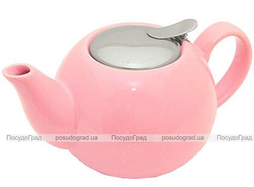 Чайник заварочный Fissman ProfiTea 750мл (розовый) с ситечком