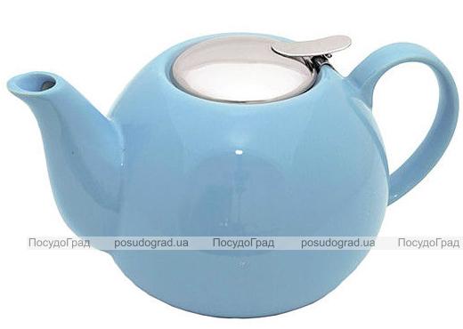 Чайник заварочный Fissman ProfiTea 1250мл (голубой) с ситечком