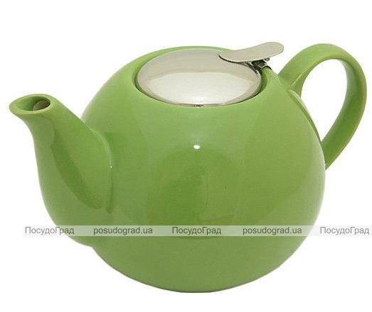Чайник заварочный Fissman ProfiTea 1250мл (зеленый) с ситечком