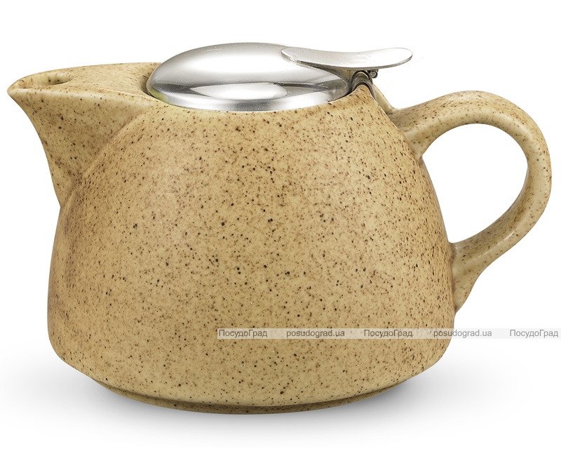 Чайник заварочный Fissman ProfiTea 1000мл (песочный) с ситечком