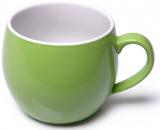 Кружка керамическая Fissman Liana 320мл, зеленая