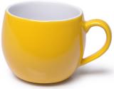 Кружка керамічна Fissman Liana 320мл, жовта
