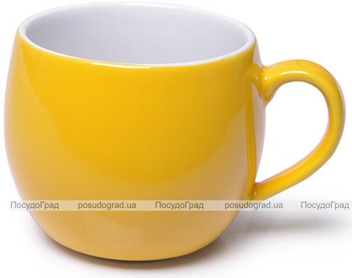 Кружка керамическая Fissman Liana 320мл, желтая