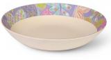 Тарілка супова Fissman Flower 22x4.4см з бамбукового волокна