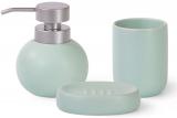 Набір аксесуарів Fissman Aquamarine для ванної кімнати: дозатор, мильниця і стакан