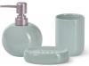 Набір аксесуарів Fissman Turquoise для ванної кімнати: дозатор, мильниця і стакан