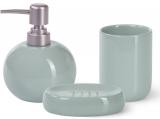 Набор аксессуаров Fissman Turquoise для ванной комнаты: дозатор, мыльница и стакан