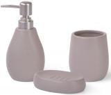 Набір аксесуарів Fissman Cappuccino для ванної кімнати: дозатор, мильниця і стакан