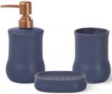 Набір аксесуарів Fissman Sapphire для ванної кімнати: дозатор, мильниця і стакан