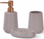 Набор аксессуаров Fissman Cappuccino-11 для ванной комнаты: дозатор, мыльница и стакан