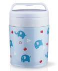 """Термос харчовий Fissman """"Elephants"""" 350мл блакитного кольору"""