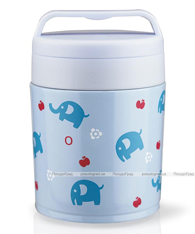 """Термос пищевой Fissman """"Elephants"""" 350мл голубого цвета"""