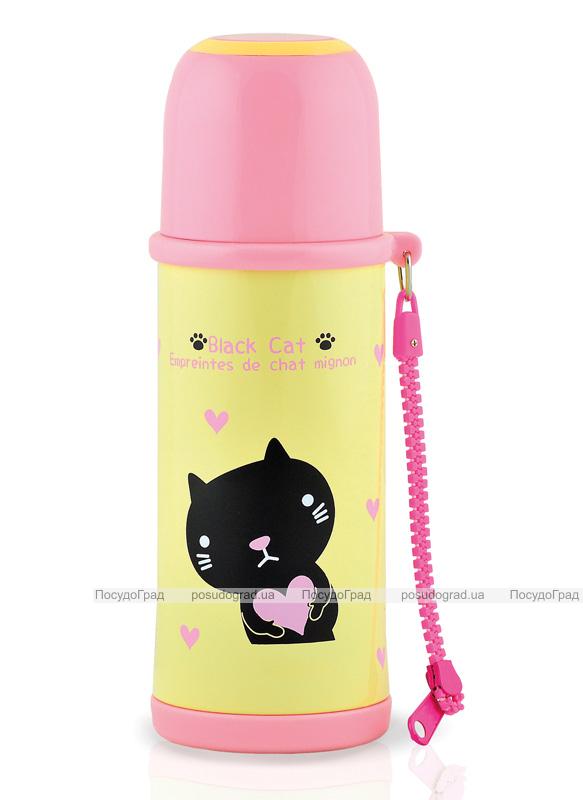 "Термос Fissman ""Black Cat"" 480мл желтый"