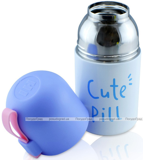 """Термос детский Fissman """"Cute Pill"""" 350мл, серый"""