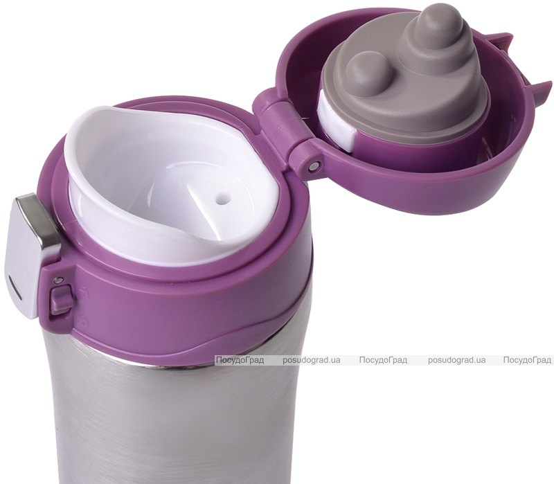 Термос Fissman Joranne Purple 420мл из нержавеющей стали