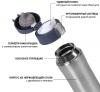 Термос Fissman Joranne Grey 420мл з нержавіючої сталі