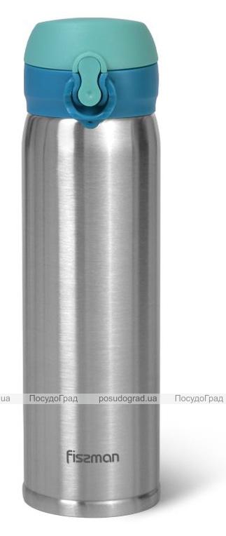 Термос Fissman Joranne Aquamarine 420мл з нержавіючої сталі